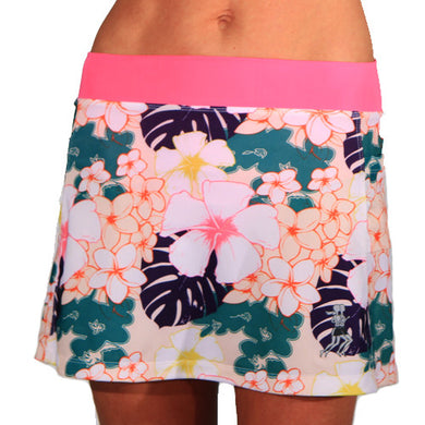 kona tropical print running skirt