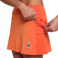 orange tri skirt pockets