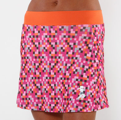 pink pixel running skirt