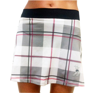 pink plaid running skirt