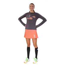 Oiselle 50/50 tee and pumpkindot running skirt