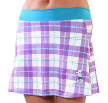 pruple plaid running skirt