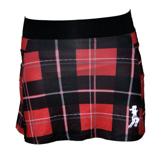 Red Plaid Running Skirt