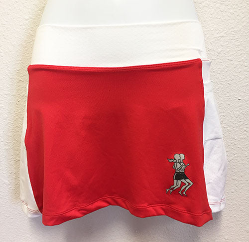 Red and White Running Skirt