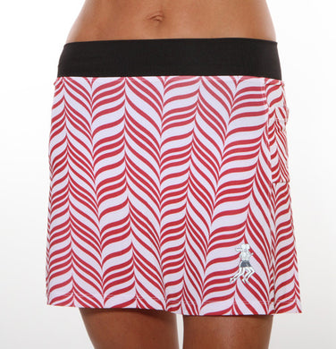 red and white candystripe triathlong skirt