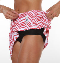 red candystripe skirt brief