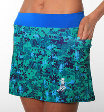 green camo triathlon skirt side pockets
