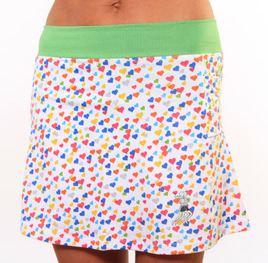 clover sparkle hearts skirt