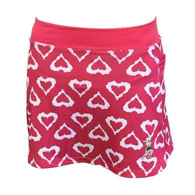 watermelon hearts running skirt