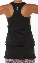 black ruffle tank back