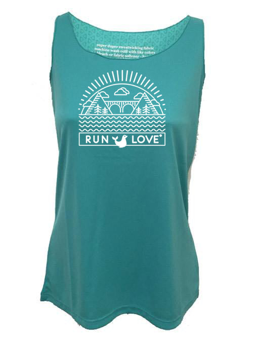 Azure Run Love® California Cooling Racerback Tank
