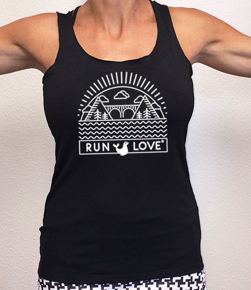 Black Run Love® California Performance Racerback