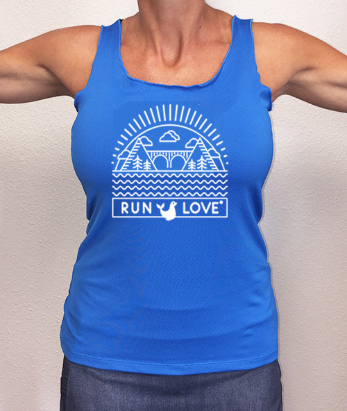Cobalt Run Love®  California Performance Racerback