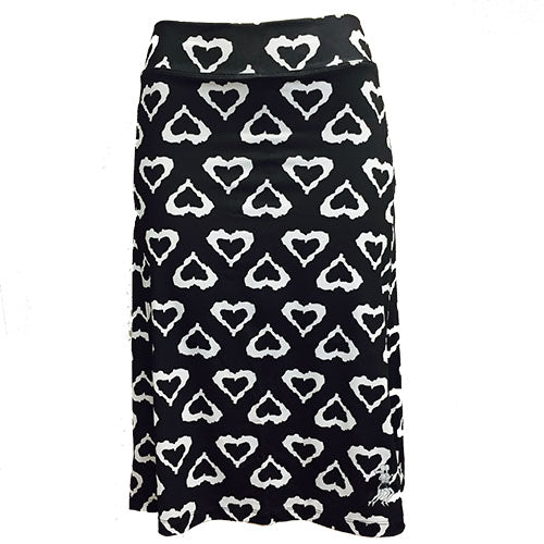 black hearts long modest running skirt