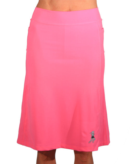 bubblegum below knee athletic skirt