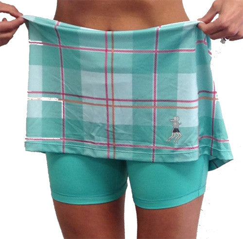 caribbean plaid koser workout skirt