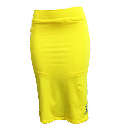 citron yellow spirit below knee running skirt