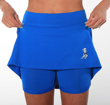 cobalt modest length running skirt compression shorts