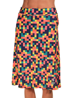 colorblock spirit knee length running skirt