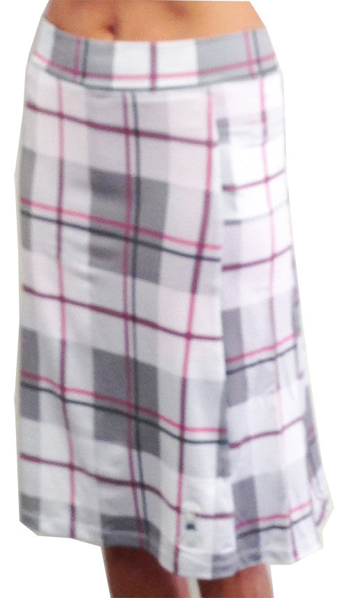 pink plaid spirit athletic skirt long