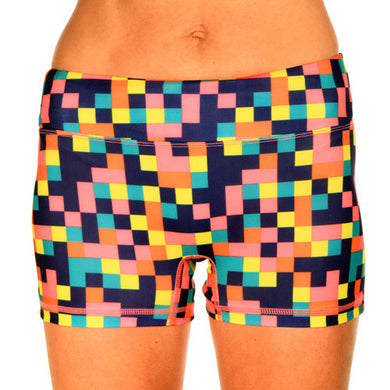 colorblock sport buns boy shorts