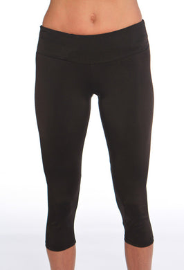 black running capri tight