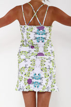 blue blossom sport dress back
