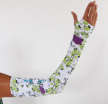 blue blossom compression sleeves