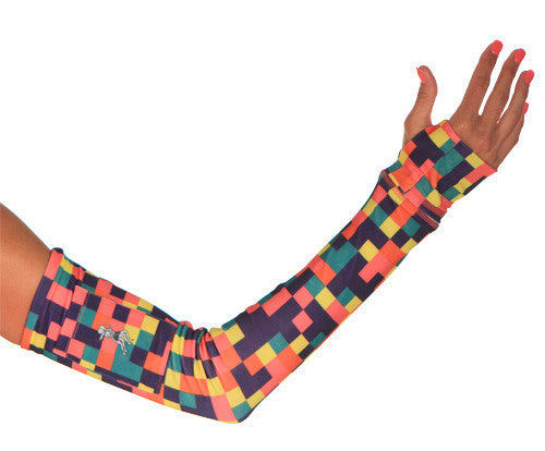 new colorblock arm warmer