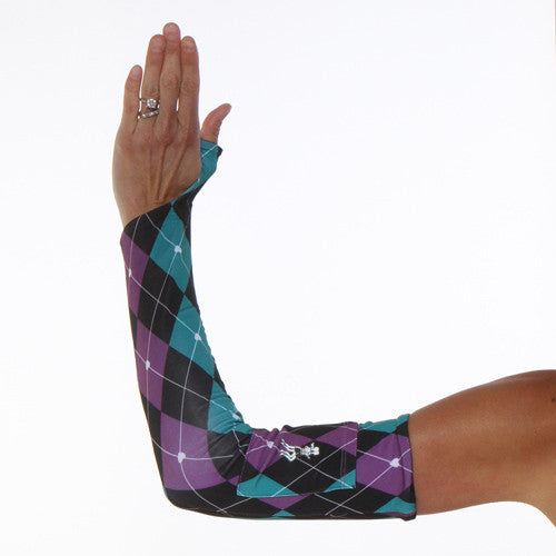 preppy purple argyle sleeves