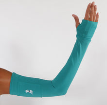 turquoise compression sleeves