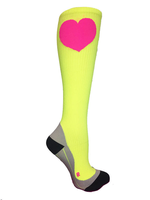 Run Love® Compression Socks Neon Citron