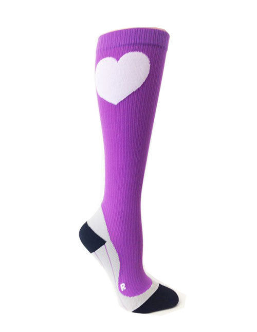 purple compression socks