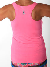 bubblegum performance racerback tank back