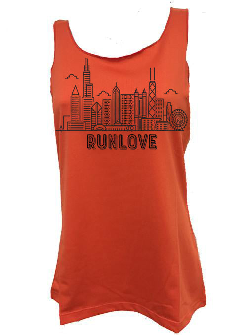 Mandarin Urban Run Love Sport Tank