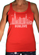 Red Urban Run Love Sport Tank