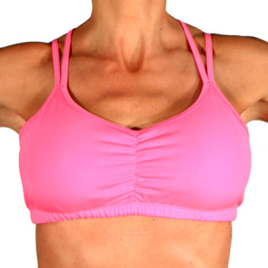 bubblegum sports bra front