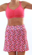 pink pixel skirt cerise strappy top