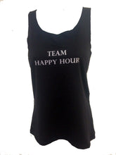 team happy hour black tank