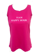 team happy hour pink cerise tank