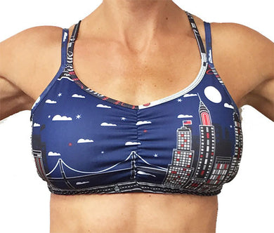 nyc strappy top sports bra