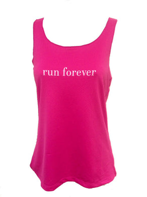 run forever sport tank cerise pink