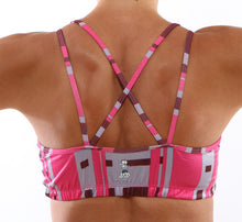 urban pink sports bra back