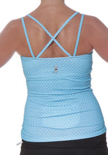 azure dot strappy tank back