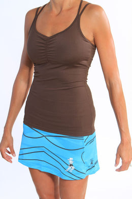 strappy tank chocolate brown