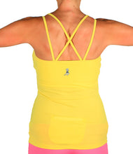 citron strappy tank back