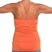 mandarin strappy tank sports bra back pocket