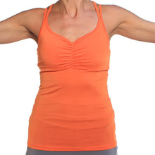 mandarin strappy tank sports bra