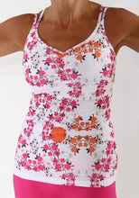 cerise blossom strappy tank