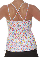 strappy tank sparkle hearts back